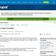 Screenshot from Drupal.org of the Entity Class Formatter module